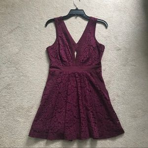 Free People Burgundy Lace Dress